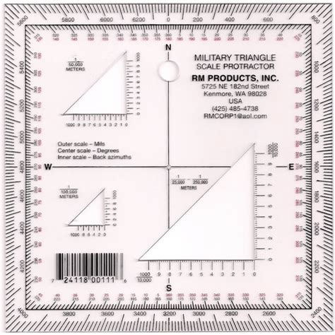 printable army protractor military triangle protractor