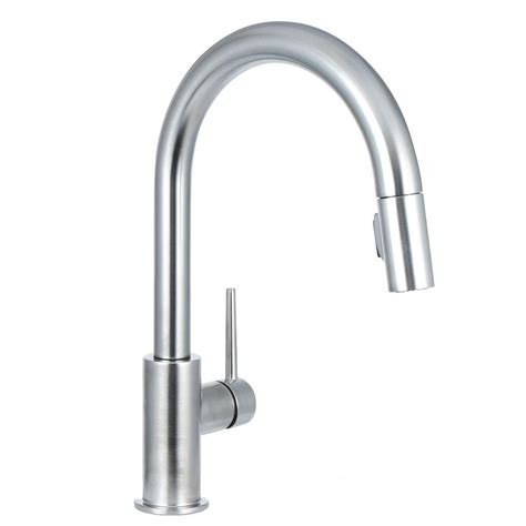 delta pull down kitchen faucet delta trinsic single handle pull down sprayer kitchen