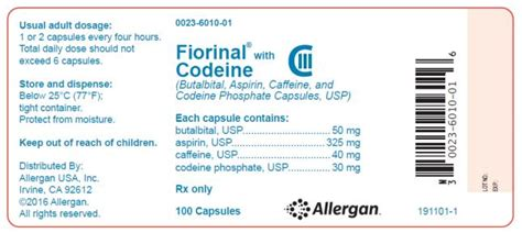 Butalbital Detox Withdrawal by Fiorinal With Codeine Fda Prescribing Information Side