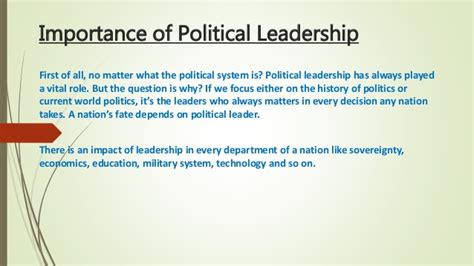 leadership in political science