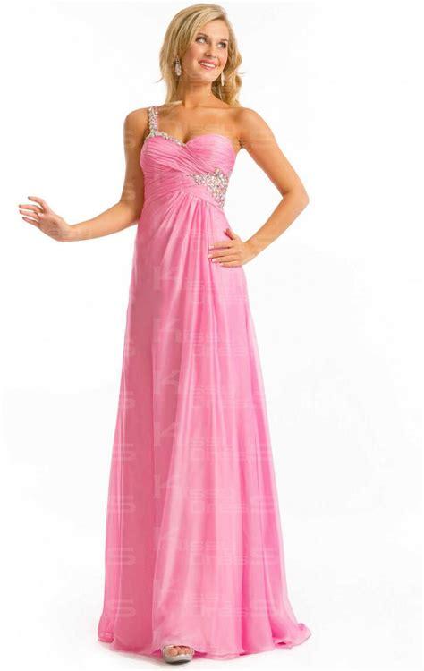 prom dress empire sheath column one shoulder floor length chiffon