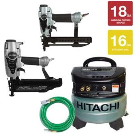 hitachi 16 2 1 2 in finish nailer with air duster