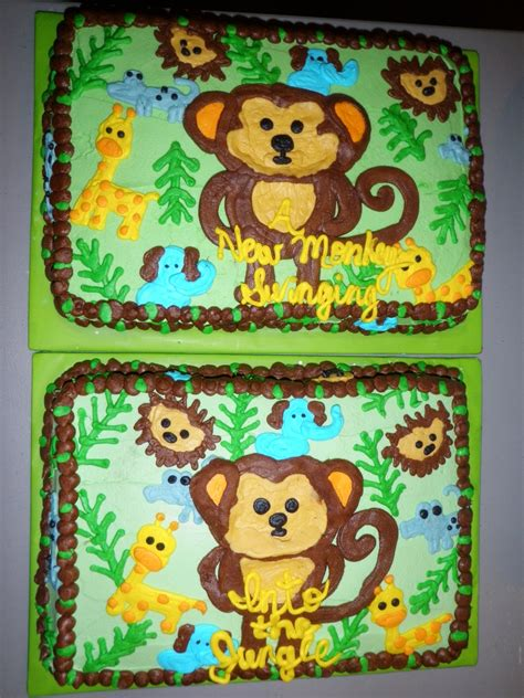 Jungle Baby Shower Cake by Jungle Themed Baby Shower Cakes Cakecentral