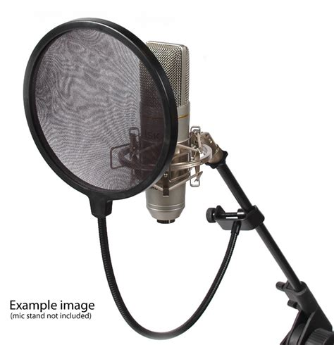 Mic Microphone Tripod Stand Mini Pop Filter Circle isk sps016 studio microphone pop filter diffuser sw