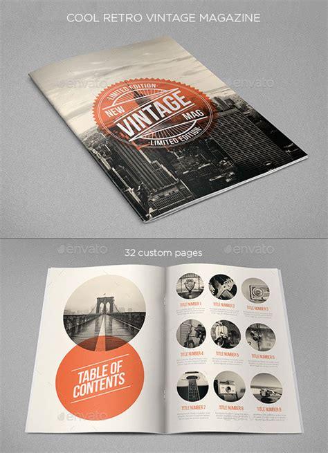 design magazine vintage 20 amazing indesign magazine layout cover design