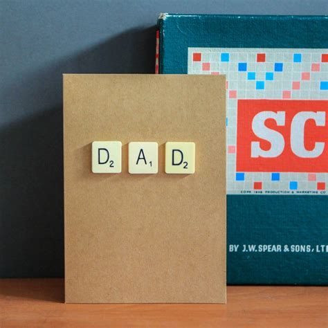 scrabble card scrabble birthday card by berylune