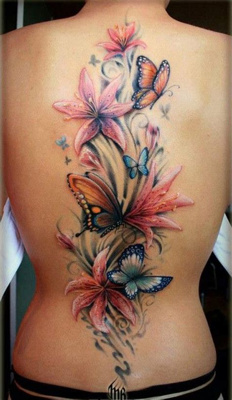 50 Butterfly Tattoos With Flowers For Women Nenuno Creative Butterfly And Tattoos