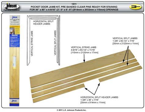 exterior pocket door kit 15113068 stain grade pocket door jamb kit