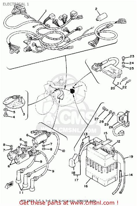 1977 yamaha xs 750 wiring diagram wiring diagram with