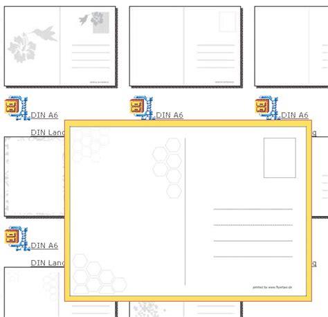 Postkarten Drucken Software by Postkarten Vorlagen Kostenlos Runterladen Und Ausdrucken