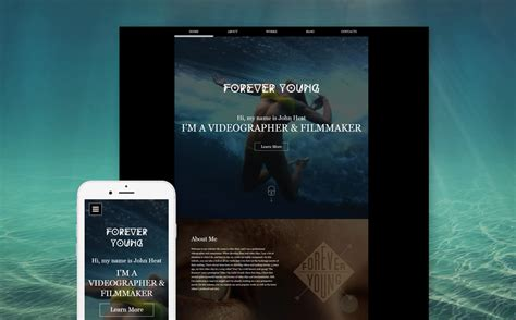 website templates for videographers videographer responsive website template 59255 by zemez