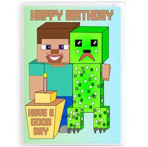 minecraft birthday cards gangcraft net