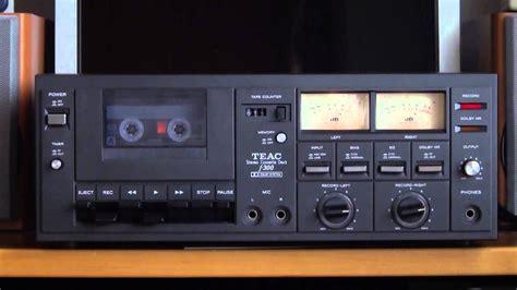 teac cassette deck vintage audio cassette deck teac f 300 doovi