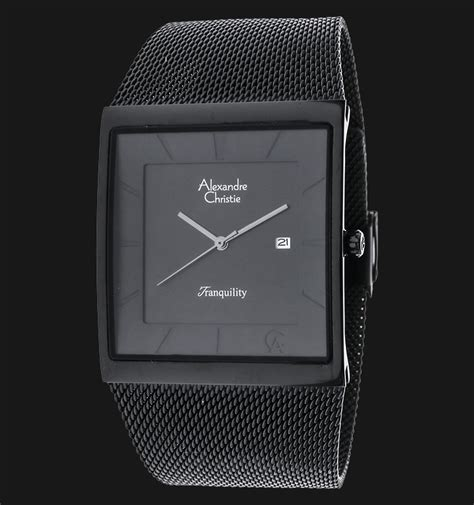 Alexandre Christie Ac8329mdld Tranquility Black Stainless Steel Alexandre Christie Ac 8333 Md Bipba Black Stainless