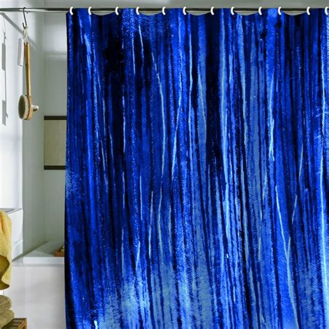 Bright Shower Curtains Buddenhagen Bright Blue Shower Curtain Shower