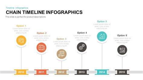 Chain Timeline Infographics Powerpoint And Keynote Timeline Graphics For Powerpoint