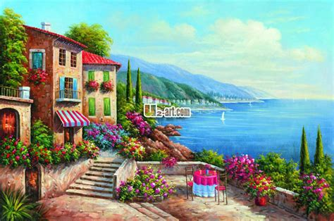 colorful houses painting colorful scenery painting images