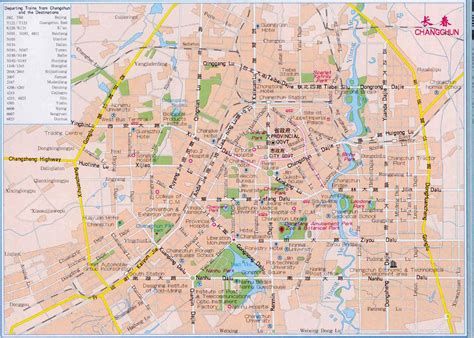 changchun map changchun map map of changchun china changchun city
