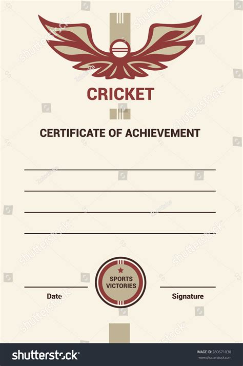 cricket certificate templates vector template certificate diploma cricket simple