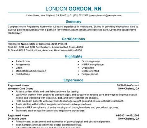 registered nurse resume template free download rn resume templates