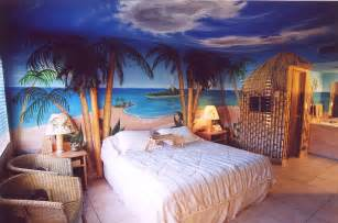 click on the above image for a larger view of our blue hawaii theme hotel room