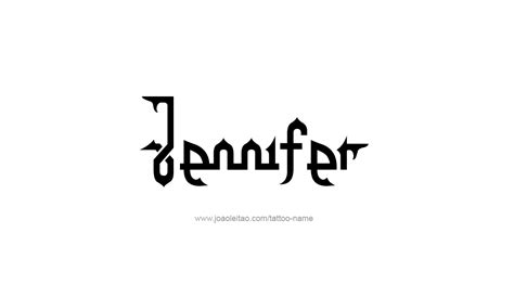 jennifer name tattoo designs photo collection name design