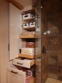 Bathroom Closet Shelving Ideas by Five Great Bathroom Storage Solutions