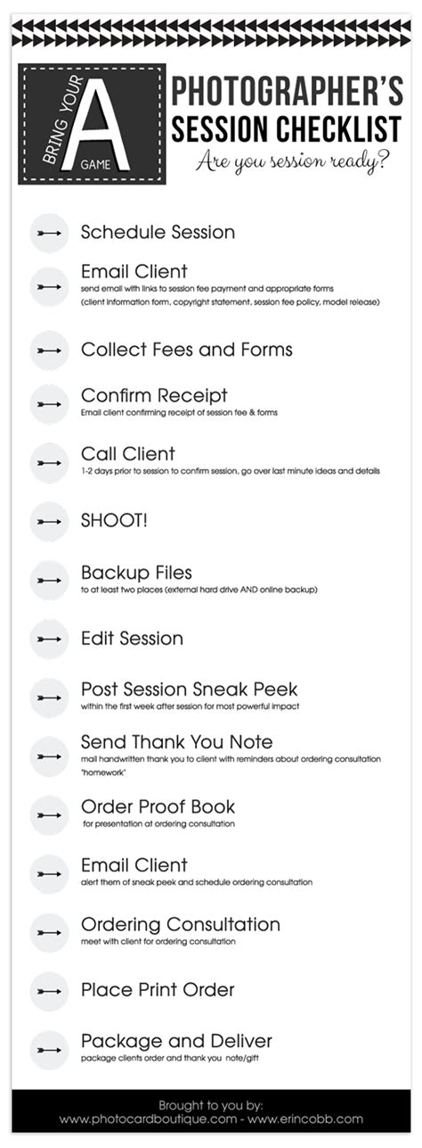 Free Photographers Workflow Checklist Labs Photographers And Template Workflow Checklist Template
