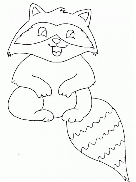 Baby Raccoon Coloring Pages | free printable raccoon coloring pages for kids