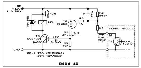 transistor durch fet ersetzen schalten und steuern mit transistoren i bs170 bs250 bc547 bc560 schaltuhr modul sc 77 m sc77m