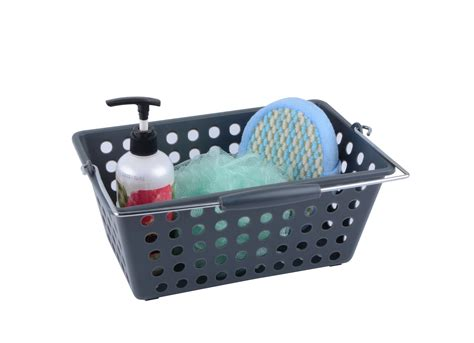 storage handy caddy small appliance caddy as seen on tv colormate small shower caddy grey home bed bath