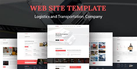 Go Fast Transport Logistics Html Template By Alia Themeforest Logistics Website Template