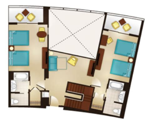 bay lake tower 2 bedroom floor plan luxury and location the rooms of bay lake tower at