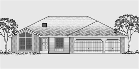 3 car garage house plans walkout basement house plans daylight basement on sloping lot