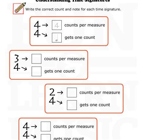 Time Signature Worksheet