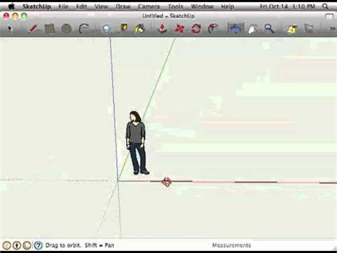 google sketchup tutorial in hindi sketchup giving instructions with the drawing axes