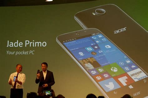earlier this month microsoft revealed their new flagship phones lumia acer jade primo flagship windows 10 smartphone revealed