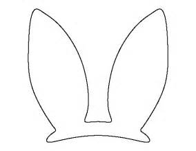 bunny ears template pdf easter bunny ears pattern use the printable outline for