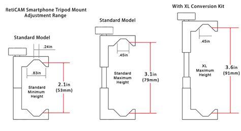 reticam smartphone tripod mount metal universal smartphone tripod adapter standard size black