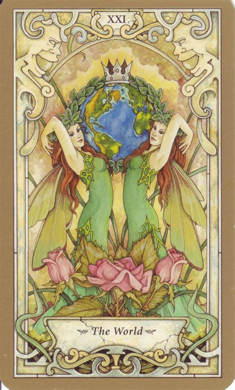card world mystic faerie tarot the world tarot cards
