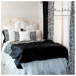 black and white bed skirt compare prices on zebra print bed skirt online shopping