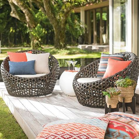 cocoon outdoor furniture cocoon chairs set of two grandin road