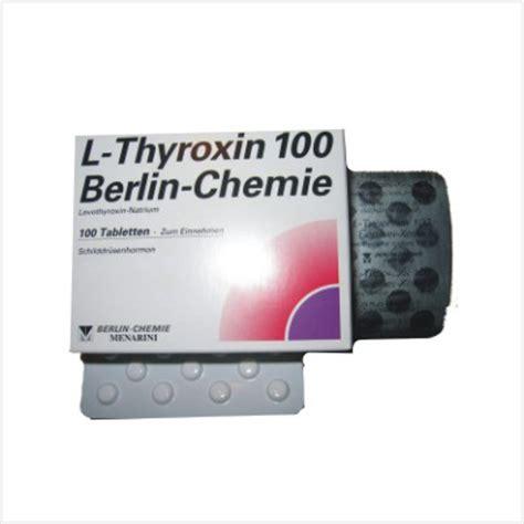 T4 L by Buy T4 L Thyroxin 100 Buy T4 L Thyroxin By Berlin Chemie