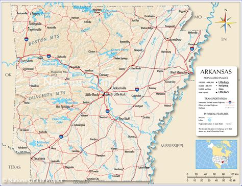 reference maps  arkansas usa nations  project