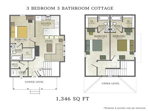 3 Bedroom 2 Bath House Plans by 3 Bedroom 2 Bath Cottage Plans 3 Bedroom 2 Bath House
