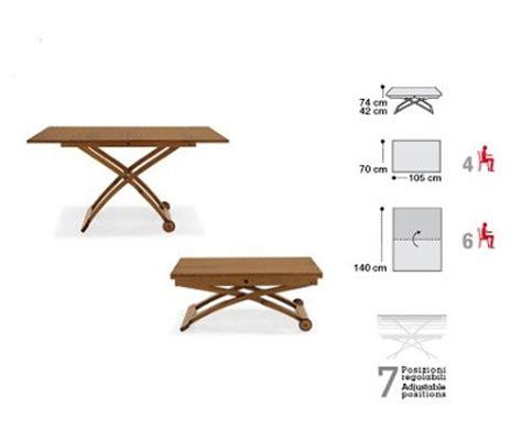 tavolo trasformabile calligaris tavolino in legno trasformabile da salotto mascotte