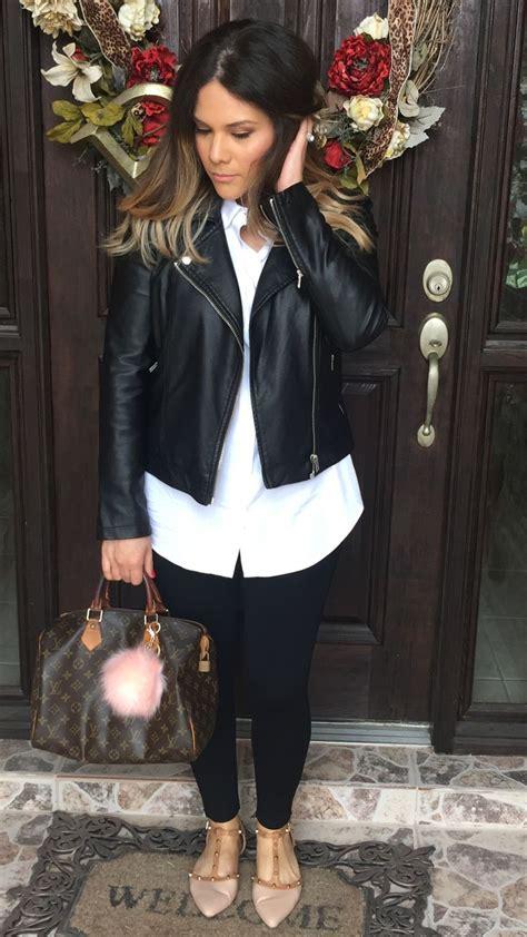 Sepatu Flat Louis Vuitton Pointy white shirt black moto jacket studded pointy flats louis vuitton speedy 30