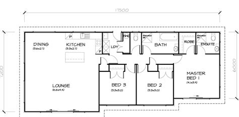 standard 3 bedroom house plans
