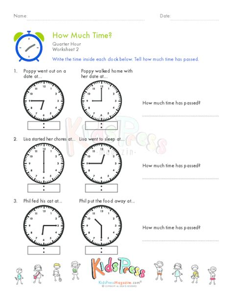 clock worksheets quarter after telling time quarter hour worksheet 7 kidspressmagazine com