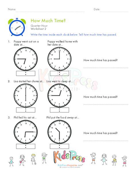 clock worksheets quarter to telling time quarter hour worksheet 7 kidspressmagazine com